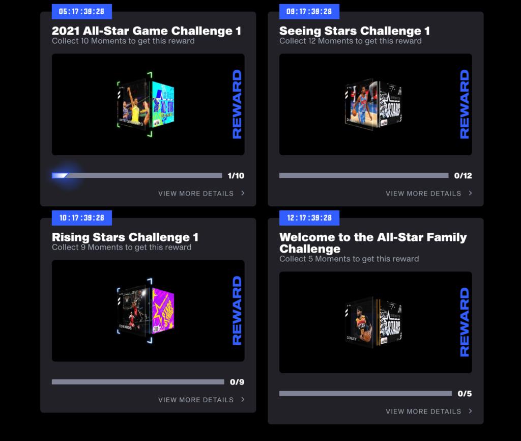 NBA Top Shot Challenges